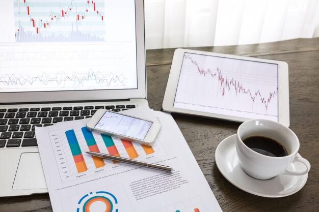 mercado financeiro graficos