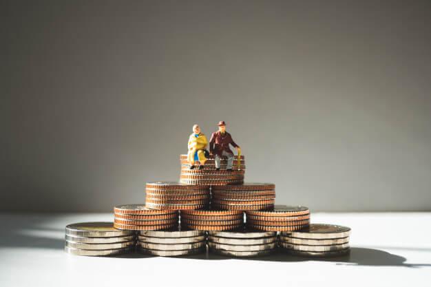 previdencia privada pilha de moedas